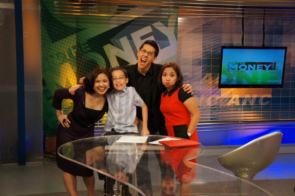 Elijah's first field trip to a TV studio. It just so happened to be his daddy's show!